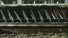 Tea Estate Factory cutting leaves Stock Footage