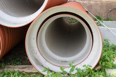Plastic sewer pipe Stock Photos