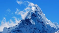 Mt. Ama Dablam in the Everest Region of the Himalayas, Nepal - stock footage