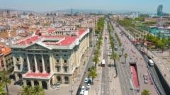 Barcelona panorama cityscape Stock Footage