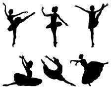 ballerinas - stock illustration