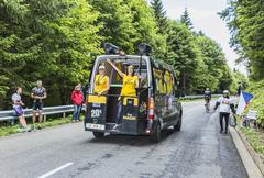 The Official Mobile Store of Le Tour de France - Tour de France 2014 - stock photo