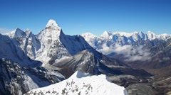 Mt. Ama Dablam in the Himalayas, Nepal Stock Footage