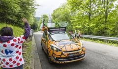 Stock Photo of Vision Plus Car - Tour de France 2014