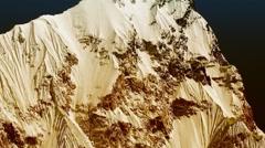 Mt. Nuptse in the Himalayas, Everest Region, Nepal - stock footage
