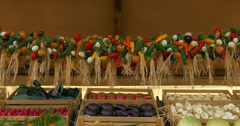Vegetables garland boxes Stock Footage