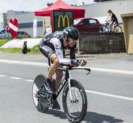The Cyclist Jens Voigt - Tour de France 2014 Stock Photos