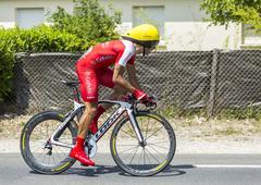 The Cyclist Julien Simon - Tour de France 2014 Stock Photos