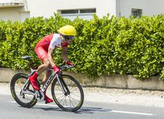 The Cyclist Julien Simon - Tour de France 2014 - stock photo