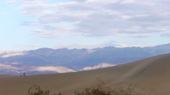 Time Lapse of Clouds over Desert Sand Dunes at Daytime in Death Valley NP Stock Footage