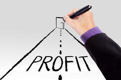 Door to increase profit Stock Photos
