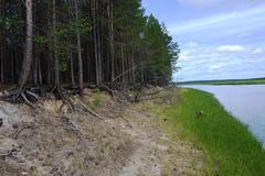 river in Siberia, Russia - stock photo