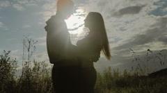 Romantic Scene of love Stock Footage