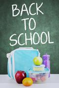 School lunch for back to school - stock photo
