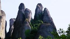 Fantasy Rock Formations of Meteora Stock Footage