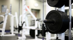 Weight Rack Dolly move Stock Footage