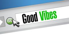Stock Illustration of good vibes browser sign concept