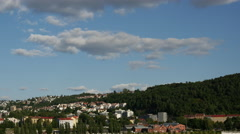 Time lapse from gamlebyen, Old town Oslo Norway Stock Footage