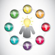 Stock Illustration of business leader and innovative ideas concept