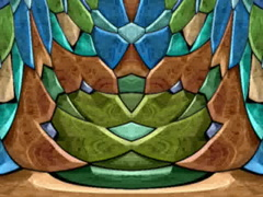 Kaleidoscopic colorful fragment mosaic with a horizontal mirror effect Stock Footage