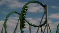 Universal roller coaster ride Stock Footage