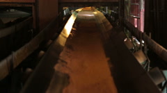 Conveyor belt closeup Stock Footage