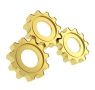 Set of a cogwheel gears Stock Photos