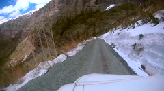 Driving Down the Bear Pass Bridal Veil Falls - stock footage