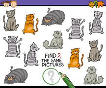 Find same picture cartoon game Stock Illustration