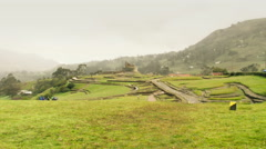 Ingapirca ruins in Ecuadorian highlands Stock Footage