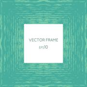 Vector frame with a texture of water - stock illustration
