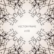 Frame from trees and branches - stock illustration