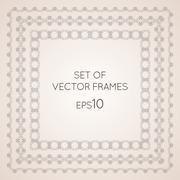 Set intricate vector frames - stock illustration