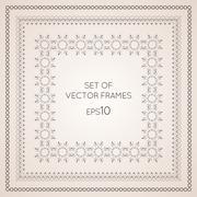 Set intricate vector frames Stock Illustration