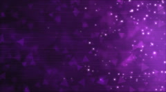Triangle Particle Background Animation - Loop Violet Stock Footage