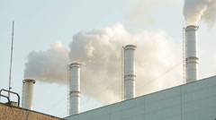Industrial white smoke Stock Footage