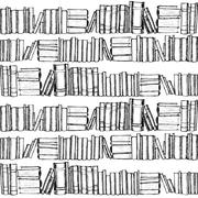 Seamless pattern with old books - stock illustration