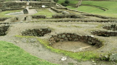 Ingapirca archeological site ruins in Ecuador Stock Footage