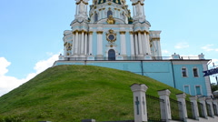 Andreevsky church Stock Footage