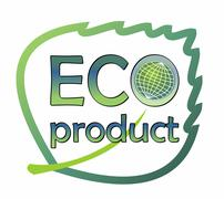 Label designed as the leaf for eco-friendly product - stock illustration