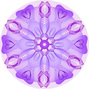 Purple mandala Stock Illustration