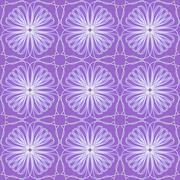 Purple tile with fine white floral patterns Stock Illustration