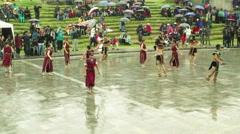Inti Raymi festival at Ingapirca Ecuador Stock Footage