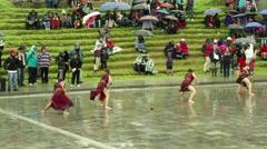 Inti Raymi festival in Ecuadorian Andes Stock Footage