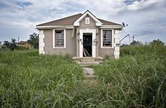 Destructed House after Hurricane Katrina, New Orleans, Louisiana - stock photo