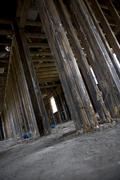Inside destructed house after Hurricane Katrina, New Orleans, Lo Stock Photos
