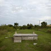 House foundation after Hurricane Katrina, New Orleans, Louisiana - stock photo