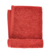Folded terry towel isolated - stock photo