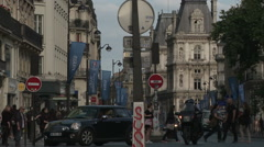 Rue de Rivoli Traffic 1 Stock Footage