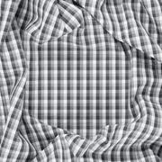 Wrinkled squared cloth fabric - stock photo